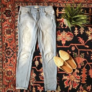 Artisan NY distressed high waist jeans